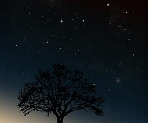 dark, night sky, and shine image