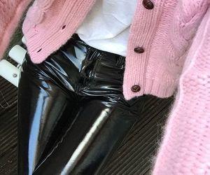black, fashion, and pink image