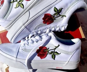 flowers, style, and vans image