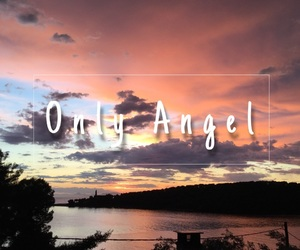 angel, background, and clouds image