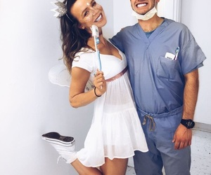 couple, Halloween, and ideas image