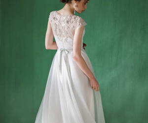 etsy, wedding dress, and tulle wedding dress image