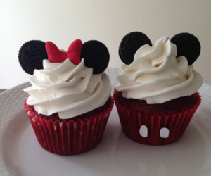 cupcake, sweet, and mickey mouse image