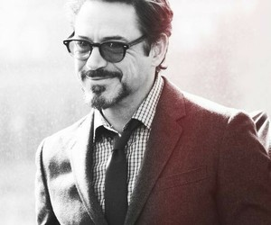 black and white, robert downey jr, and photograph image
