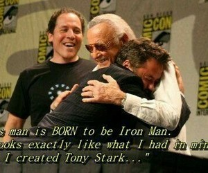 stan lee, iron man, and Marvel image