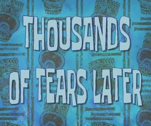 tears, spongebob, and sad image