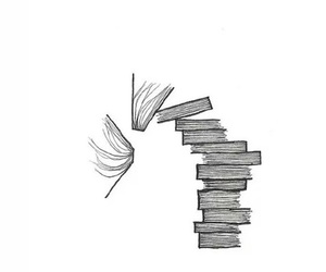 book, black and white, and drawing image