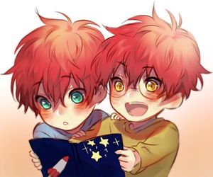 mystic messenger, twins, and 707 image