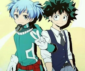 shiota, bnha, and izuku image