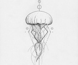 tattoo, jellyfish, and art image