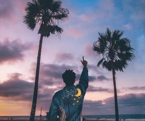 beach, memories, and moon image