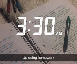 homework, notebook, and snapchat image