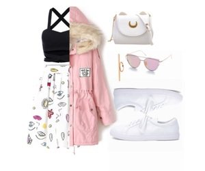clothes, lentes, and crop top image