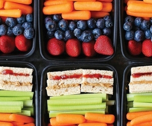 blueberries, carrot, and celery image