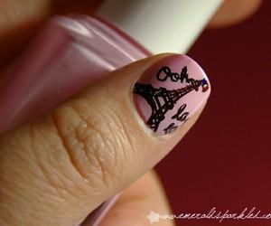 nail art, tour eiffel, and paris image