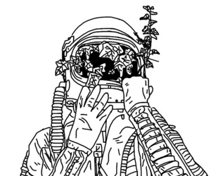 aesthetic, astronaut, and outlines image