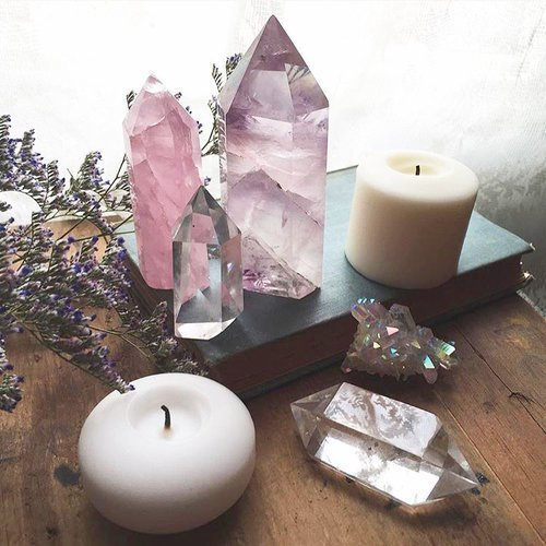 stone, crystal, and witch image