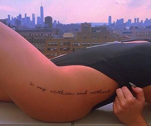 cool, leg, and tattoo image
