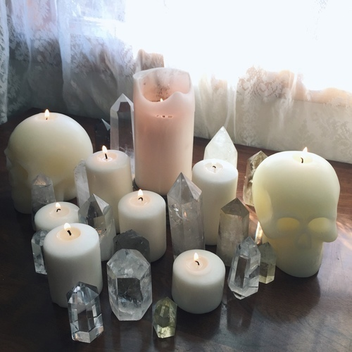candle, article, and crystal image