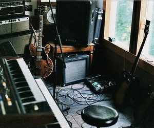 music, guitar, and studio image