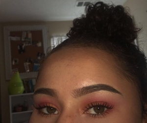 brown, eyes, and lashes image