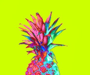 pineapple, fruit, and pink image