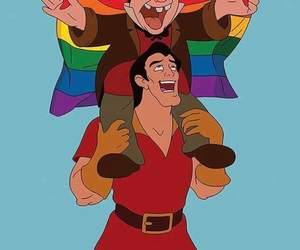 love, disney, and gay image
