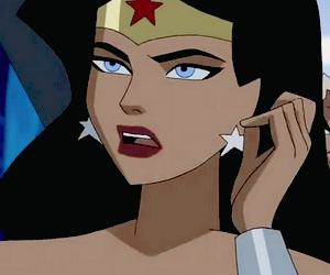 wonder woman, cartoon, and icon image