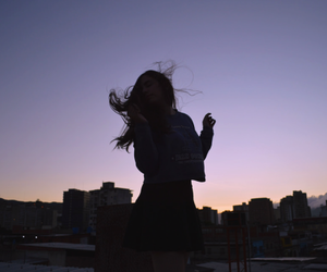 girl, tumblr, and sky image