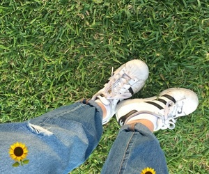adidas, chic, and grass image