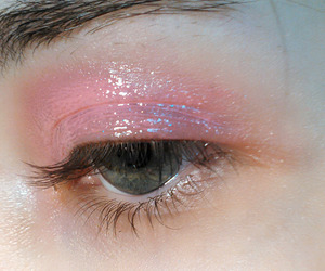 pink, makeup, and eye image
