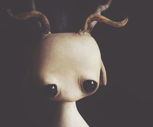 black, doll, and horns image