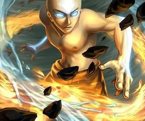 aang, anime, and avatar image