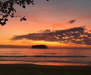 sunset, beach, and orange image