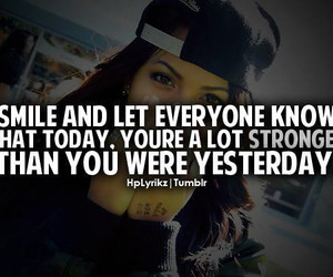 strong, smile, and quote image