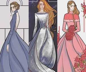 book, elain, and feyre image