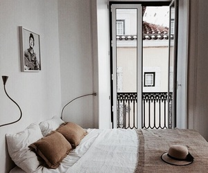 bedroom, city, and cozy image