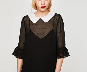 chic, collar, and dress image