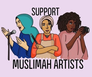 artists, hijab, and support image