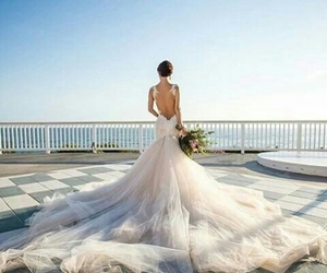 beautiful, moda, and wedding image