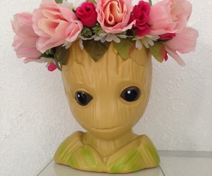 girl, pink, and groot image