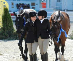 best friends, equestrian, and horse show image