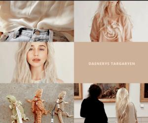 blonde, jon snow, and daenerys targaryen image
