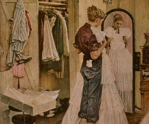 art, dress, and Norman Rockwell image