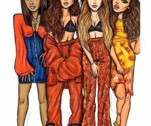 art, drawing, and little mix image