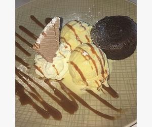 brownie, caramel, and chocolate image