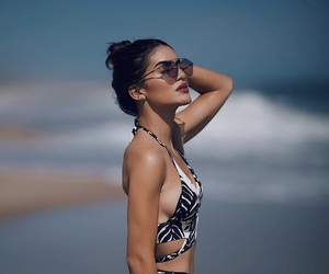abs, bathing suit, and blogger image