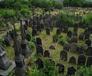 cemetery, dark, and death image