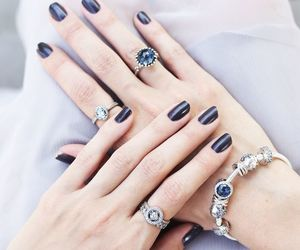 black, nails, and rings image