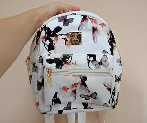adorable, printed, and backpack image